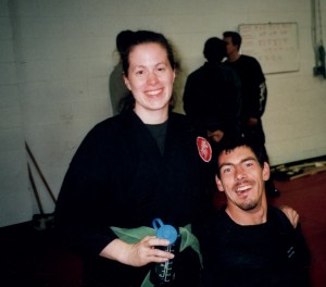Barton and Megan Cutter train in bujinkan budo taijutsu.